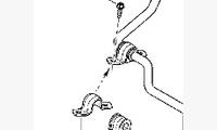 Кронштейн стабилизатора поперечной устойчивости правый оригинал арт. 546110534R