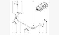 Стабилизатор поперечной устойчивости оригинал арт. 546114265R / 8200814408