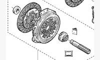 Комплект сцепления для 1.5 K9K дизель 4x4 КПП TL8 (6-ступ.) оригинал арт. 7701479161