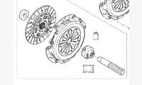 Комплект сцепления для 1.6 K4M 4x2 КПП JR5 (5-ступ.) оригинал арт. 302050901R / 7701476000 / 7701474519 / 7701476973