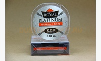 Леска KDF Royal Platinum 0,14 мм, 100 метров, 2,25 кг