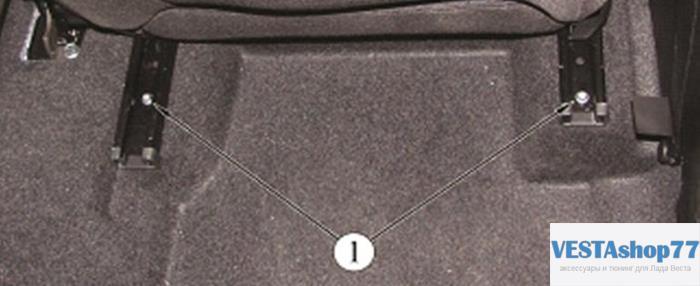 снятие передних сидений Lada Vesta