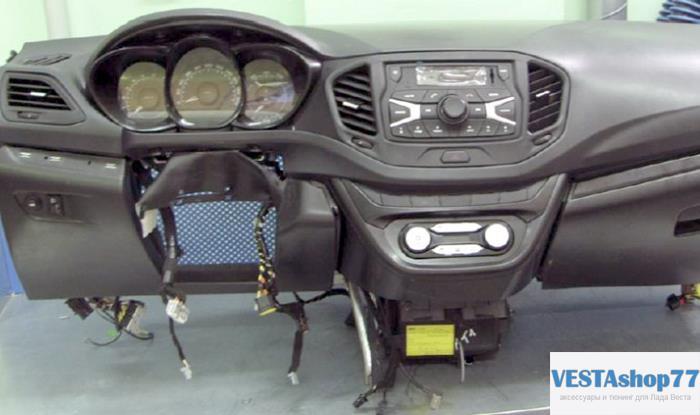 Как снять переднюю панель (торпедо) Lada Vesta