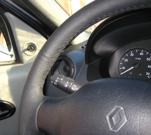 renault logan кожаная оплетка на руль